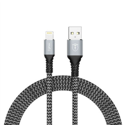 Picture of KABEL T-PHOX JAGGER MICRO USB GREY 1M ; 2.4A