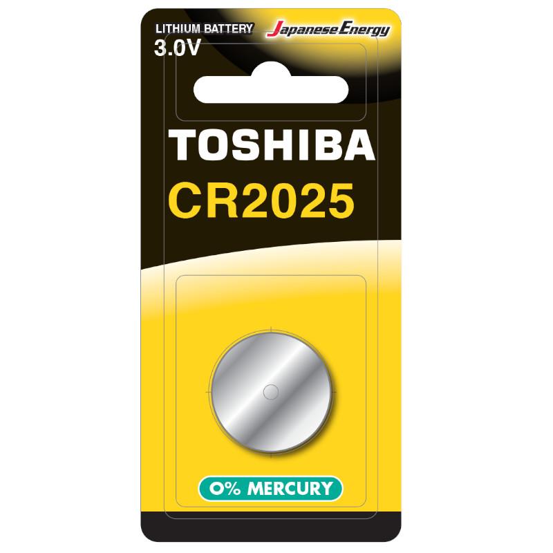 Obrázek BATERIA TOSHIBA CR2025 3V LITHIUM 1szt