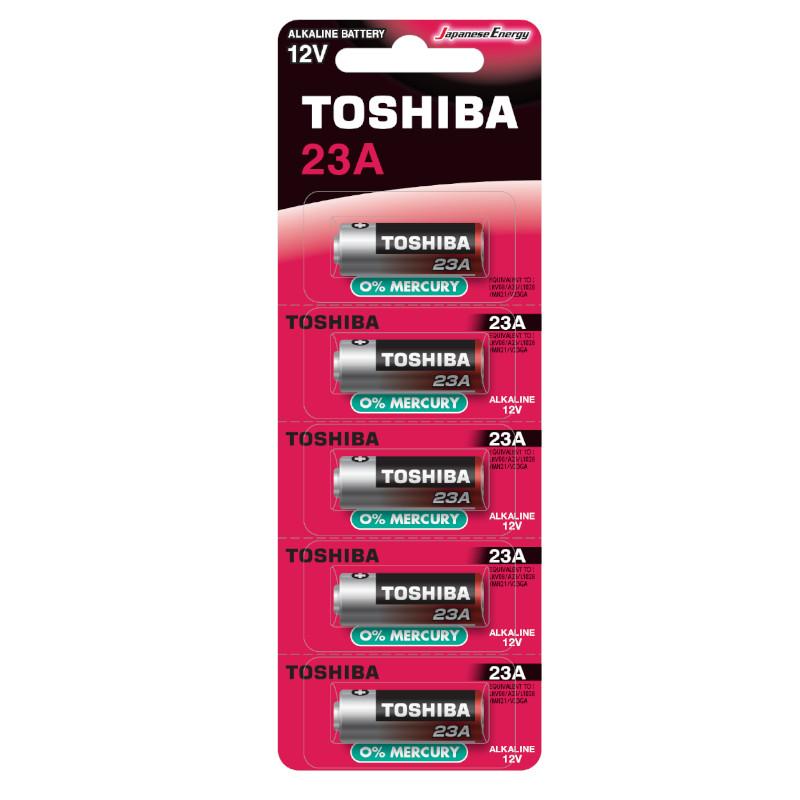 Obrázek Bateria TOSHIBA A23 5 szt. ALKALINE 12V